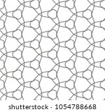 seamless geometric ornamental... | Shutterstock .eps vector #1054788668