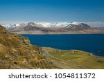 iceland scenery from akrafjall  ...   Shutterstock . vector #1054811372