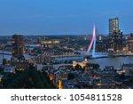 rotterdam city center at night | Shutterstock . vector #1054811528