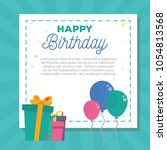 birthday party card with... | Shutterstock .eps vector #1054813568