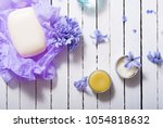 skin care product samples and...   Shutterstock . vector #1054818632