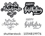 calligraphy. hand drawn... | Shutterstock .eps vector #1054819976