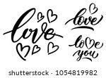calligraphy. hand drawn... | Shutterstock .eps vector #1054819982