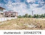 residential new house building... | Shutterstock . vector #1054825778