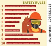 occupational safety and health... | Shutterstock .eps vector #1054831118