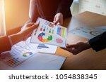 success and winning concept  ... | Shutterstock . vector #1054838345