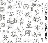 seamless pattern with head... | Shutterstock .eps vector #1054849478