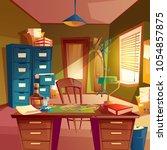 vector working space of... | Shutterstock .eps vector #1054857875