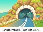 vector cartoon illustration of... | Shutterstock .eps vector #1054857878