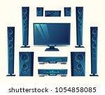 vector home theater  audio...   Shutterstock .eps vector #1054858085