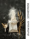 sprinkled flour coming out from ... | Shutterstock . vector #1054859858