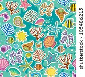 seamless sea background. the... | Shutterstock .eps vector #105486215
