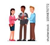 business employees man  woman... | Shutterstock .eps vector #1054870772
