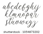 light script. calligraphy font. ... | Shutterstock .eps vector #1054873202