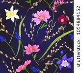 floral seamless pattern ... | Shutterstock .eps vector #1054884152