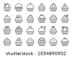 Set Of Cupcake In Various Styl...