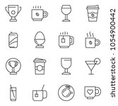 thin line icon set   coffee... | Shutterstock .eps vector #1054900442