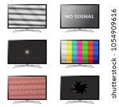 flat screen smart tv set. no...   Shutterstock .eps vector #1054909616
