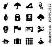 solid vector icon set  ... | Shutterstock .eps vector #1054910582