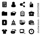 solid vector icon set  ... | Shutterstock .eps vector #1054910588