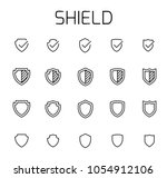shield related vector icon set. ...