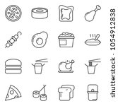 thin line icon set   pizza... | Shutterstock .eps vector #1054912838