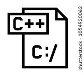 c   file vector icon