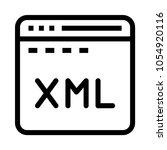 web xml  vector icon