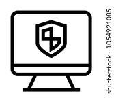 shield monitor  vector icon