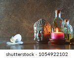 natural spa cosmetic products... | Shutterstock . vector #1054922102