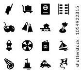 solid vector icon set  ... | Shutterstock .eps vector #1054922315
