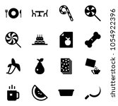 solid vector icon set   plate...   Shutterstock .eps vector #1054922396