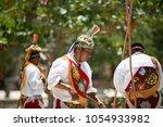 flyers of papantla doing your... | Shutterstock . vector #1054933982
