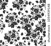 floral seamless texture with... | Shutterstock .eps vector #1054939148