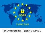 eu general data protection... | Shutterstock .eps vector #1054942412