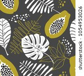 seamless pattern of exotic... | Shutterstock .eps vector #1054953026