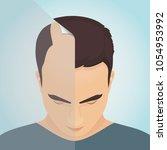 top view portrait of a man... | Shutterstock .eps vector #1054953992
