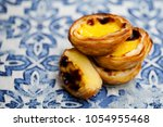 egg tart  traditional... | Shutterstock . vector #1054955468