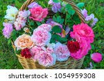Multicolored Roses In Wicker...