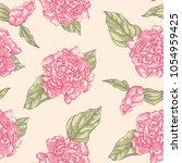 floral seamless pattern garden...   Shutterstock .eps vector #1054959425