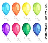 vector ballons set. can be used ... | Shutterstock .eps vector #1054959428