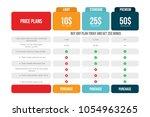 comparison price table template....