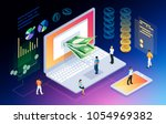 isometric concept of crypto... | Shutterstock .eps vector #1054969382