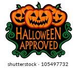halloween approved label | Shutterstock . vector #105497732