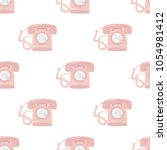 vintage and retro telephones... | Shutterstock .eps vector #1054981412