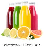 smoothie fruit juice orange... | Shutterstock . vector #1054982015