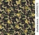 seamless military camouflage... | Shutterstock .eps vector #1054990175