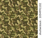 seamless military camouflage... | Shutterstock .eps vector #1054991132