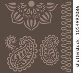 indian ornament stencils   Shutterstock .eps vector #1054992086