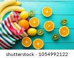 Summer Fun Time Fruits Blue - Fine Art prints